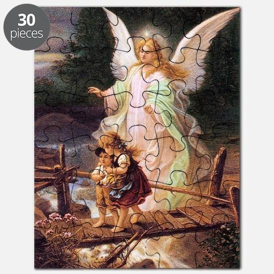 Guardian Angel with Children on Bridge Puzzle