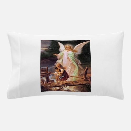 Guardian Angel with Children on Bridge Pillow Case