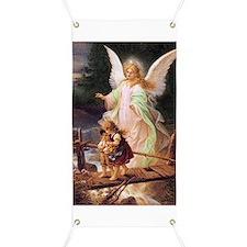 Guardian Angel with Children on Bridge Banner