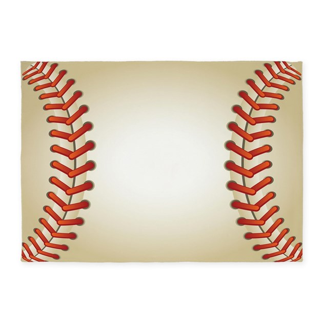 Baseball 5'x7'Area Rug By DecorativeDesigns