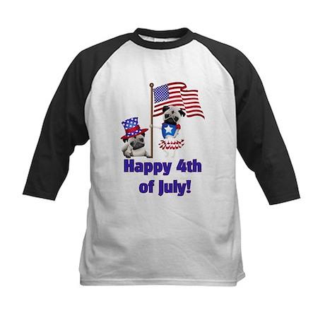 Pug 4th of July Baseball Jersey