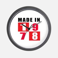Made In 1978 Wall Clock