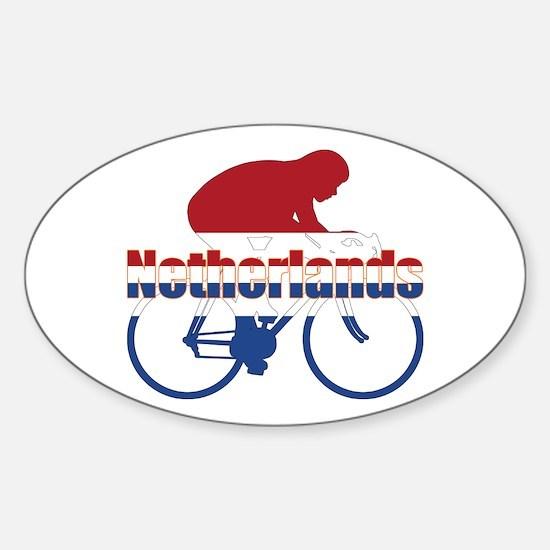 Netherlands Cycling Sticker (Oval)