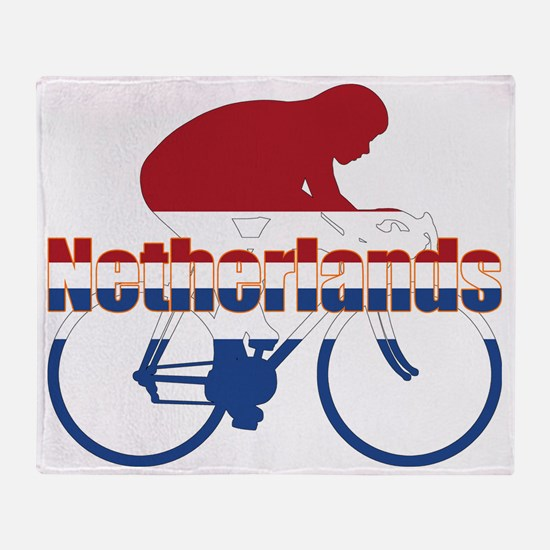 Netherlands Cycling Throw Blanket
