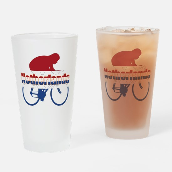 Netherlands Cycling Drinking Glass
