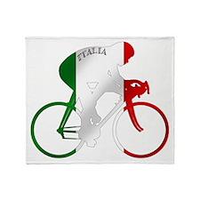 Italian Cycling Throw Blanket