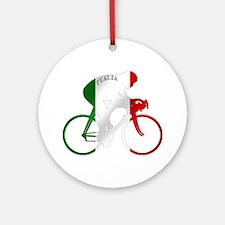 Italian Cycling Ornament (Round)