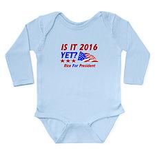 Rice For President Long Sleeve Infant Bodysuit