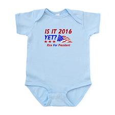 Rice For President Infant Bodysuit