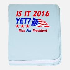 Rice For President baby blanket