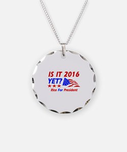 Rice For President Necklace