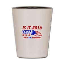 Rice For President Shot Glass