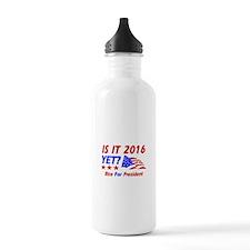 Rice For President Water Bottle
