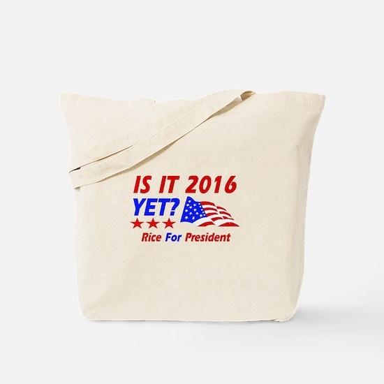 Rice For President Tote Bag
