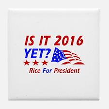 Rice For President Tile Coaster