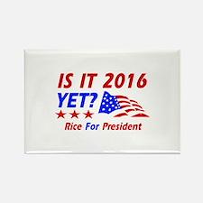 Rice For President Rectangle Magnet