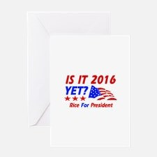 Rice For President Greeting Card