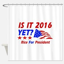 Rice For President Shower Curtain