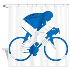 Scotland Cycling Shower Curtain