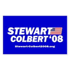 """Stewart/Colbert """"Classic Blue"""" Sticker (Rectangula"""