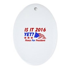 Pence for president Ornament (Oval)
