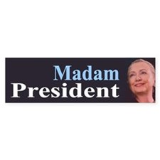 Madam President Bumper Car Sticker