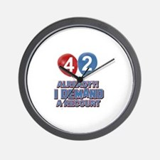 42 years birthday gifts Wall Clock