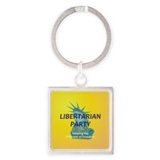 Libertarian Party Square Keychain