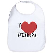 Cool Love polka Bib