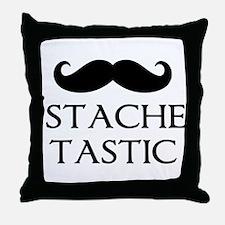 'Stache Tastic Throw Pillow
