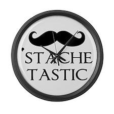 'Stache Tastic Large Wall Clock