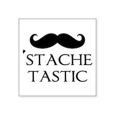 "'Stache Tastic Square Sticker 3"" x 3"""