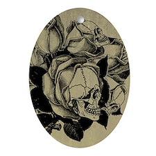 Skull Roses Ornament (Oval)