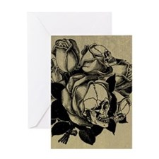 Skull Roses Greeting Card
