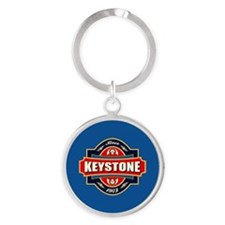Keystone Old Label Round Keychain