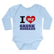 I love my Greek Husband Long Sleeve Infant Bodysui