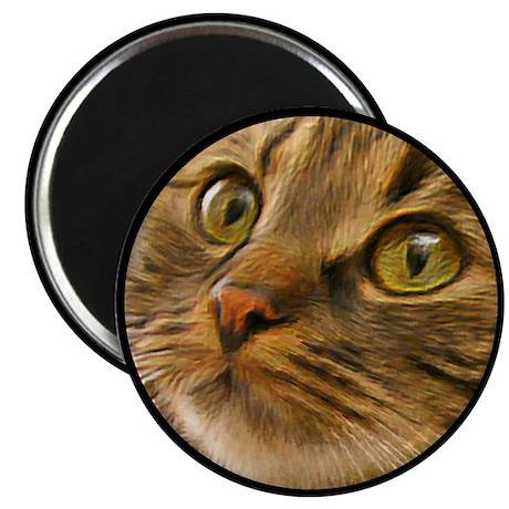 Artful Cat Magnet