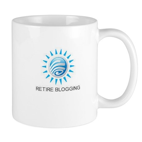 Retire Blogging Logo Mug
