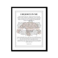 I Rejoice Framed Panel Print