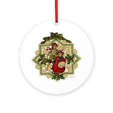 Victorian Christmas Ornament  Ornament (Round)