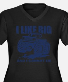 I Like Big Trucks Women's Plus Size V-Neck Dark T-
