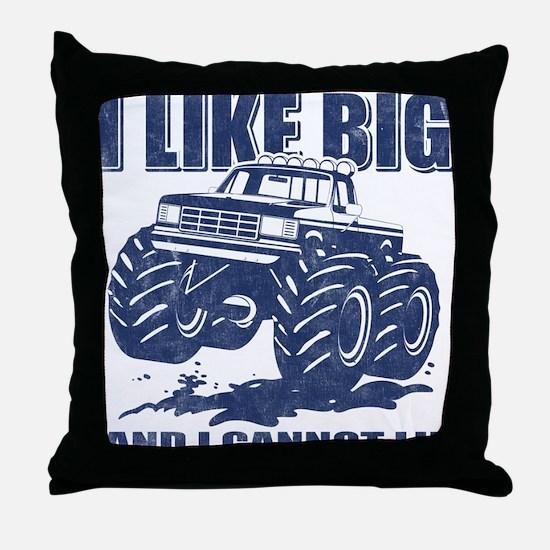 I Like Big Trucks Throw Pillow