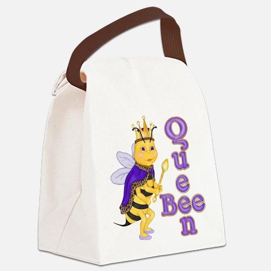 Queen Bee Humor Canvas Lunch Bag