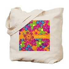 Flower Collage Tote Bag
