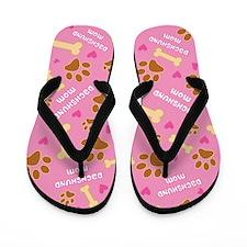 Dachshund Mom Gift Flip Flops
