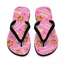 Dameranian Mom Gift Flip Flops