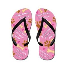 Doberman Pinscher Mom Gift Flip Flops