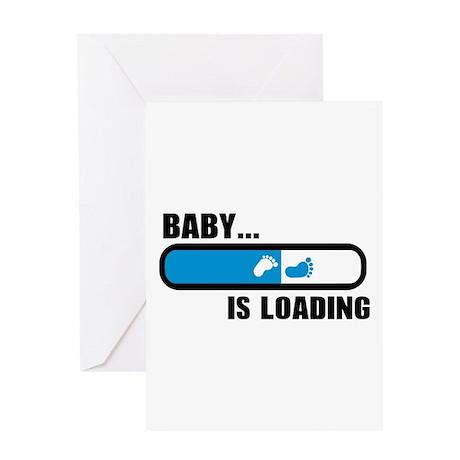 baby loading feet greeting card