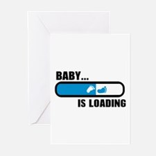 Baby loading feet Greeting Cards (Pk of 10)