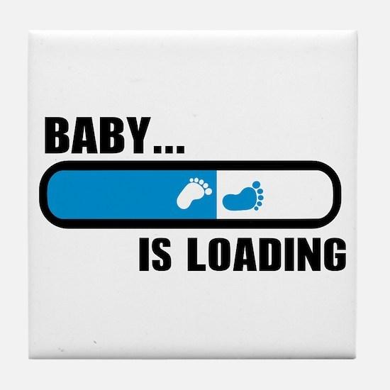 Baby loading feet Tile Coaster